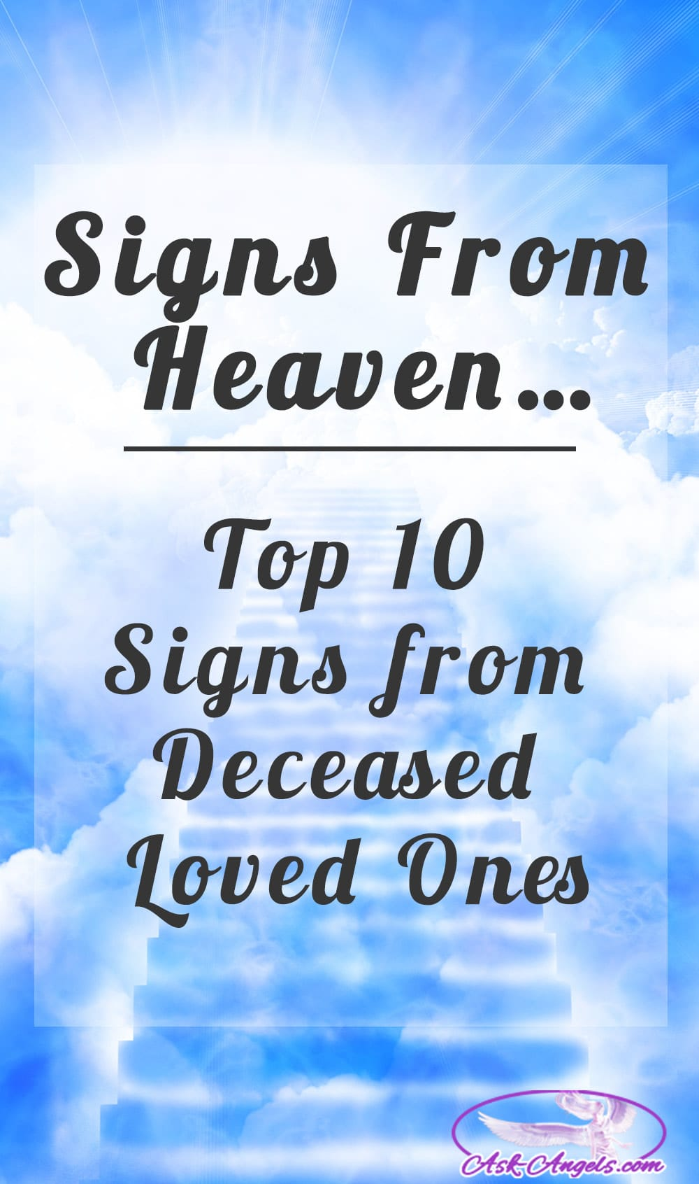 Signs from heaven top 9 signs from deceased loved ones ask angels 2 strange electrical occurrences biocorpaavc Image collections