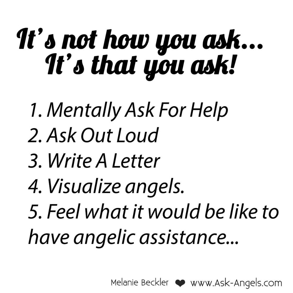 Ask your angels for help