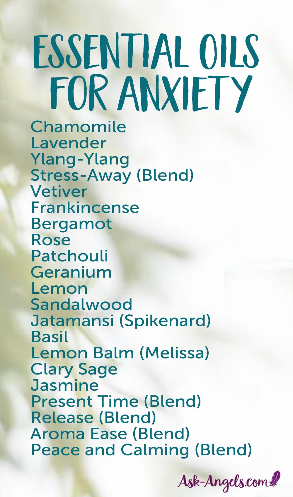 21 Essential Oils for Anxiety