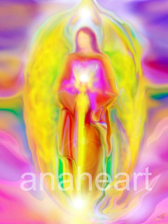 Archangel Michael Angel Painting by Glenyss-Bourne
